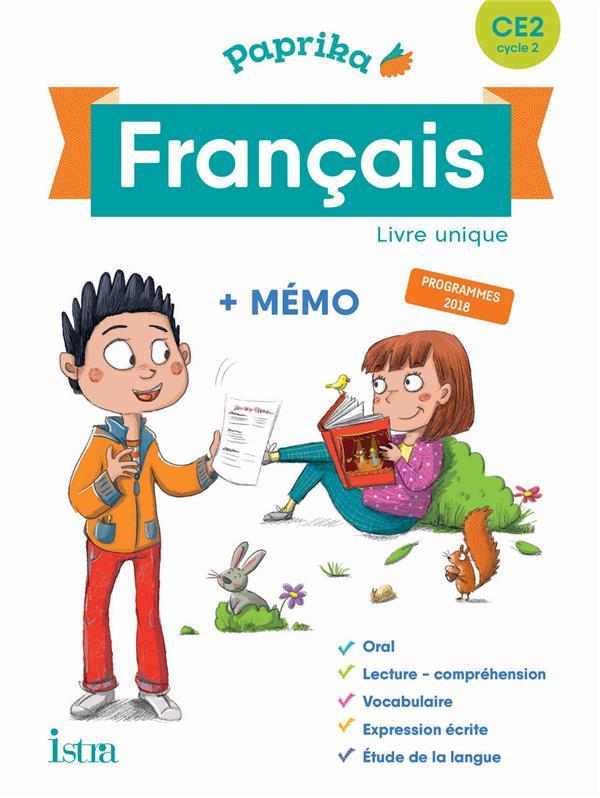 PAPRIKA FRANCAIS CE2 - EDITION FRANCE - LIVRE ELEVE - ED. 2019