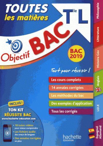 OBJECTIF BAC 2019 TOUTES LES MATIERES TLE L