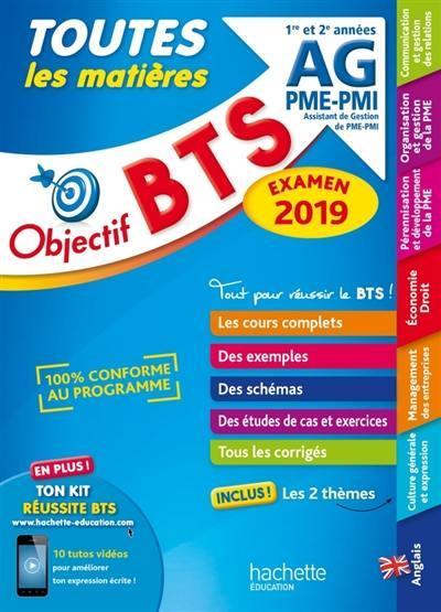 OBJECTIF BTS AG PME-PMI 2019 TOUTES LES MATIERES