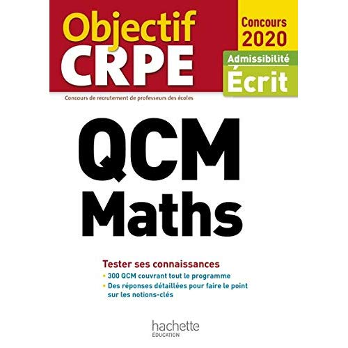 QCM CRPE : MATHS 2020
