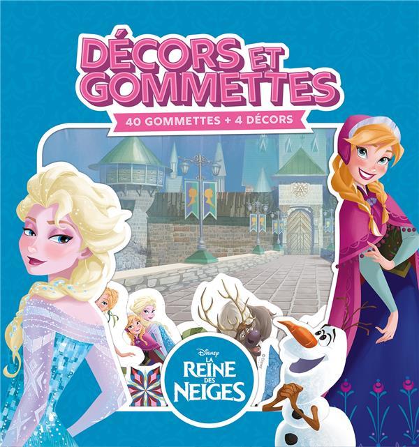REINE DES NEIGES - DECORS ET GOMMETTES (40 GOMMETTES)