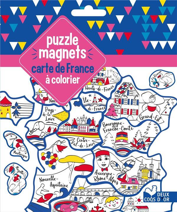 PUZZLE MAGNETS CARTE DE FRANCE A COLORIER