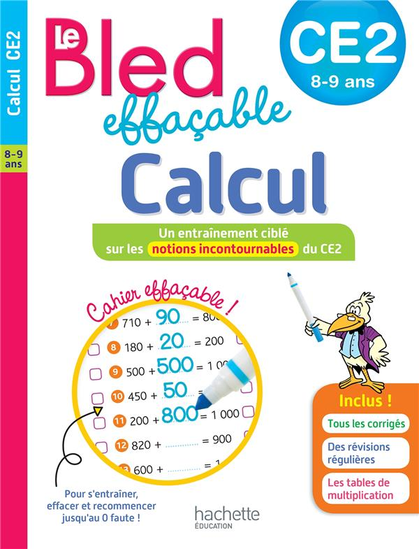 BLED EFFACABLE CALCUL CE2