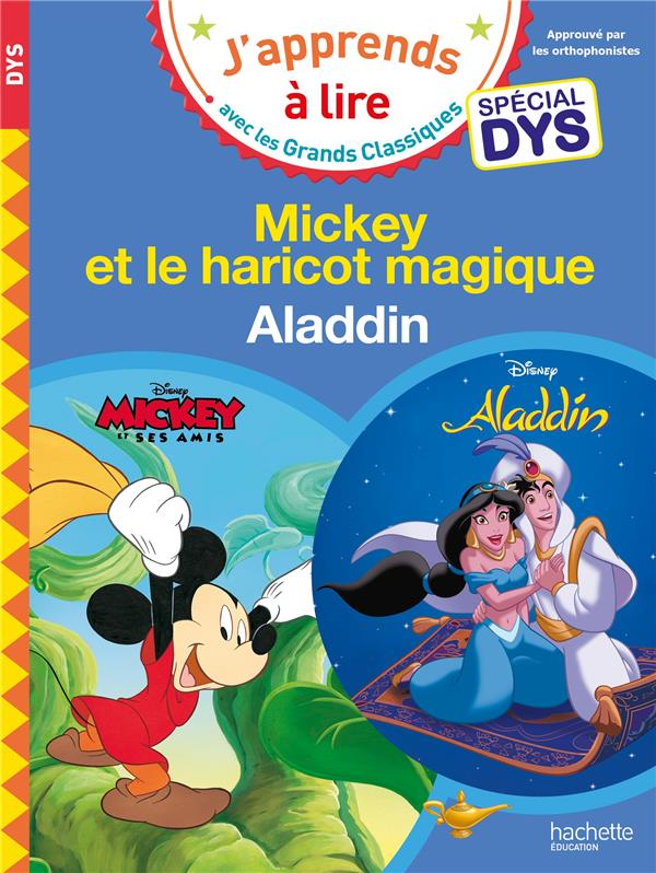 MICKEY ET LE HARICOT MAGIQUE/ALADDIN - SPECIAL DYSLEXIE