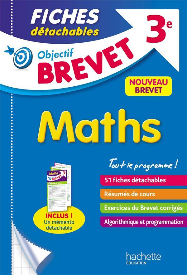 OBJECTIF BREVET 3E - FICHES DETACHABLES MATHS