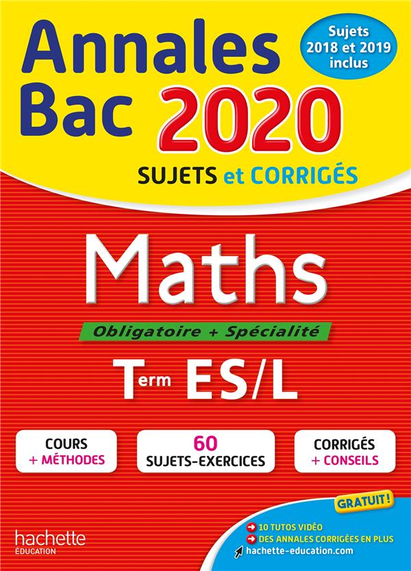 ANNALES BAC 2020 MATHS TERM ES