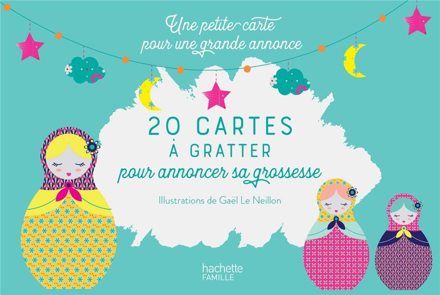 20 CARTES A GRATTER POUR ANNONCER SA GROSSESSE - UNE PETITE CARTE POUR UNE GRANDE ANNONCE