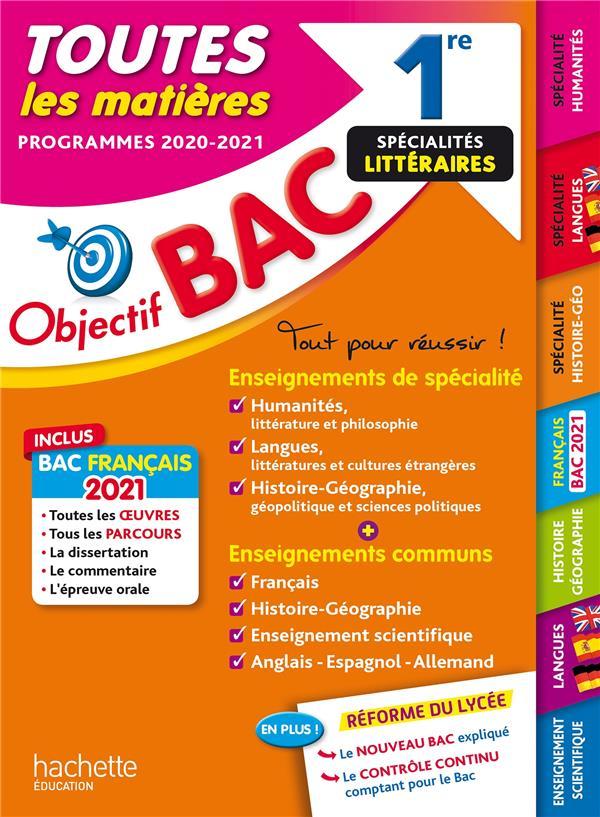 1RE ENSEIGNEMENTS COMMUNS + SPECIALITES LETTRES-LANGUES-HISTOIRE-GEO BAC 2021