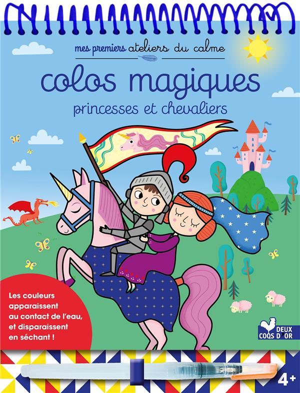 COLOS MAGIQUES PRINCESSES ET CHEVALIERS - BLOC AVEC FEUTRE A EAU