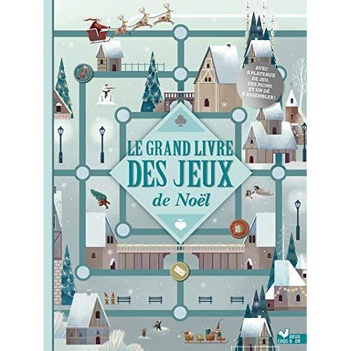 LE GRAND LIVRE DES JEUX NOEL - LIVRE AVEC PLATEAUX ET PIONS