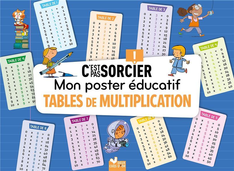 C'EST PAS SORCIER LES TABLES DE MULTIPLICATION - POSTER