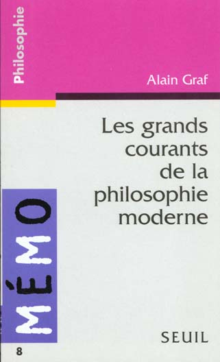LES GRANDS COURANTS DE LA PHILOSOPHIE MODERNE