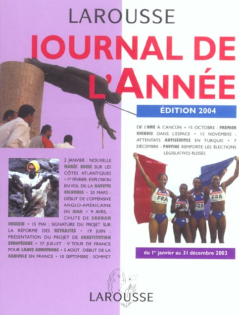JOURNAL DE L'ANNEE, EDITION 2004