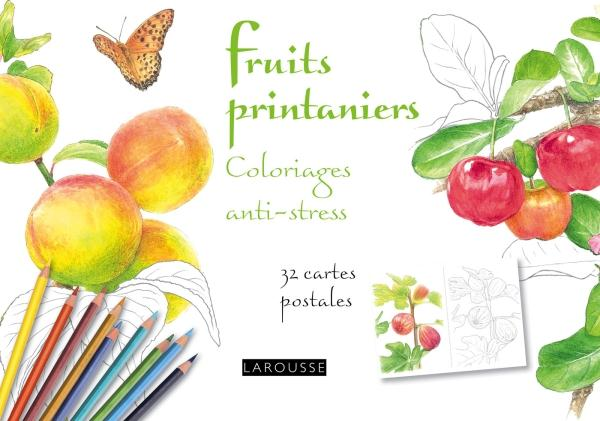FRUITS PRINTANIERS COLORIAGES ANTI-STRESS 32 CARTES POSTALES