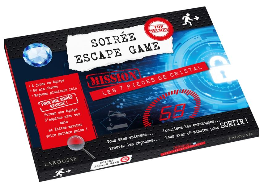 SOIREE ESCAPE GAME - 7 PIECES DE CRISTAL