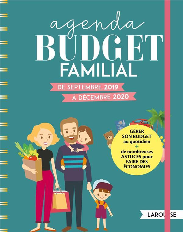 AGENDA BUDGET FAMILIAL - DE SEPTEMBRE 2019 A DECEMBRE 2020