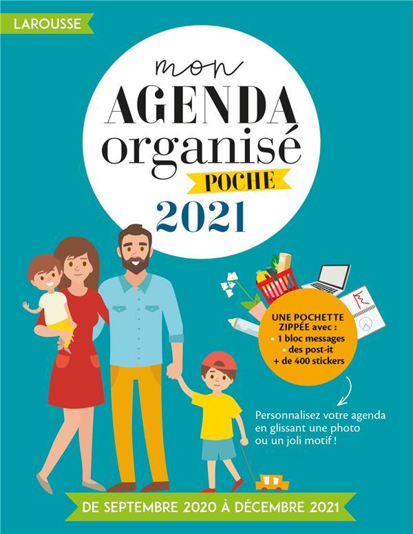 MON AGENDA ORGANISE POCHE 2021