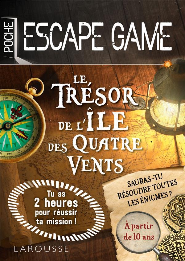 ESCAPE DE GAME DE POCHE  - LE TRESOR DE L'ILE DES QUATRE VENTS