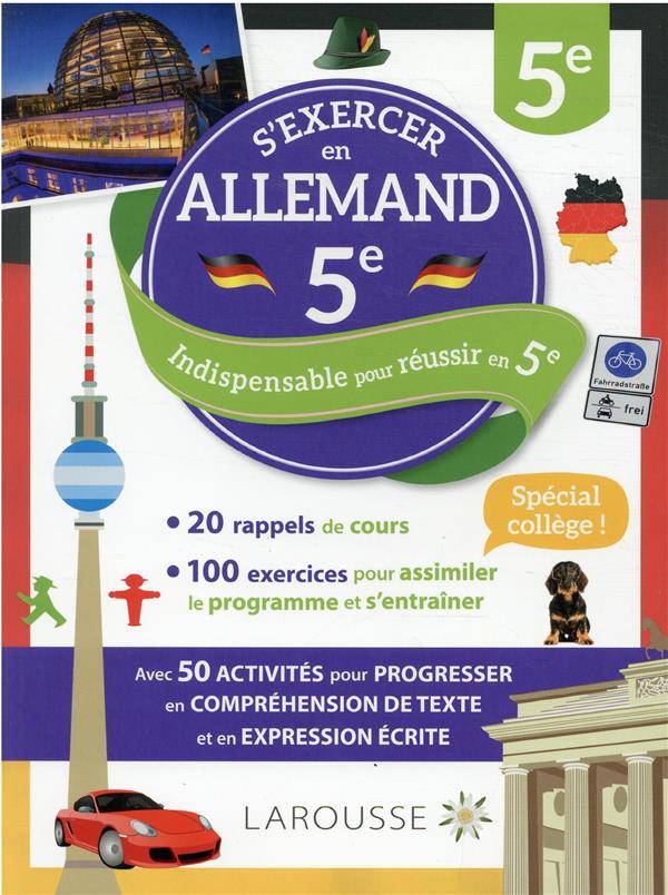 CAHIER LAROUSSE ALLEMAND 5E