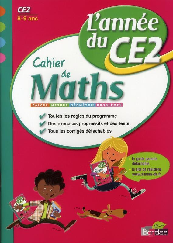 CAH ENTRAIN ANNEE MATHS CE2