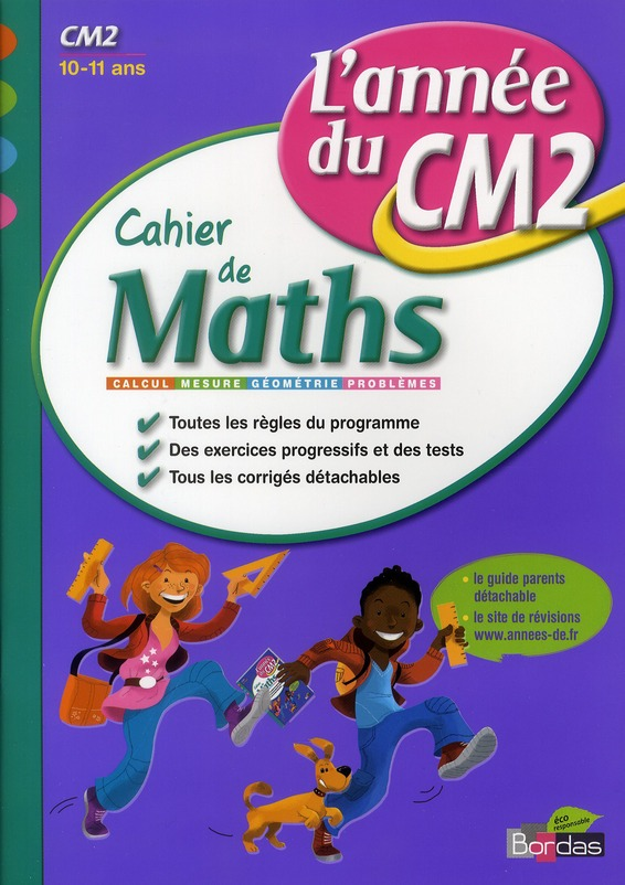CAH ENTRAIN ANNEE MATHS CM2