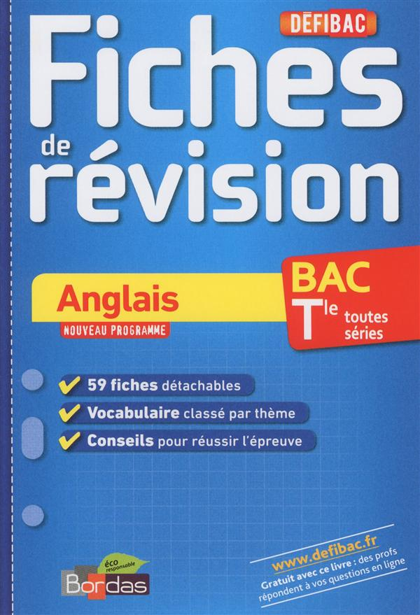 DEFIBAC FICHES ANGLAIS TER