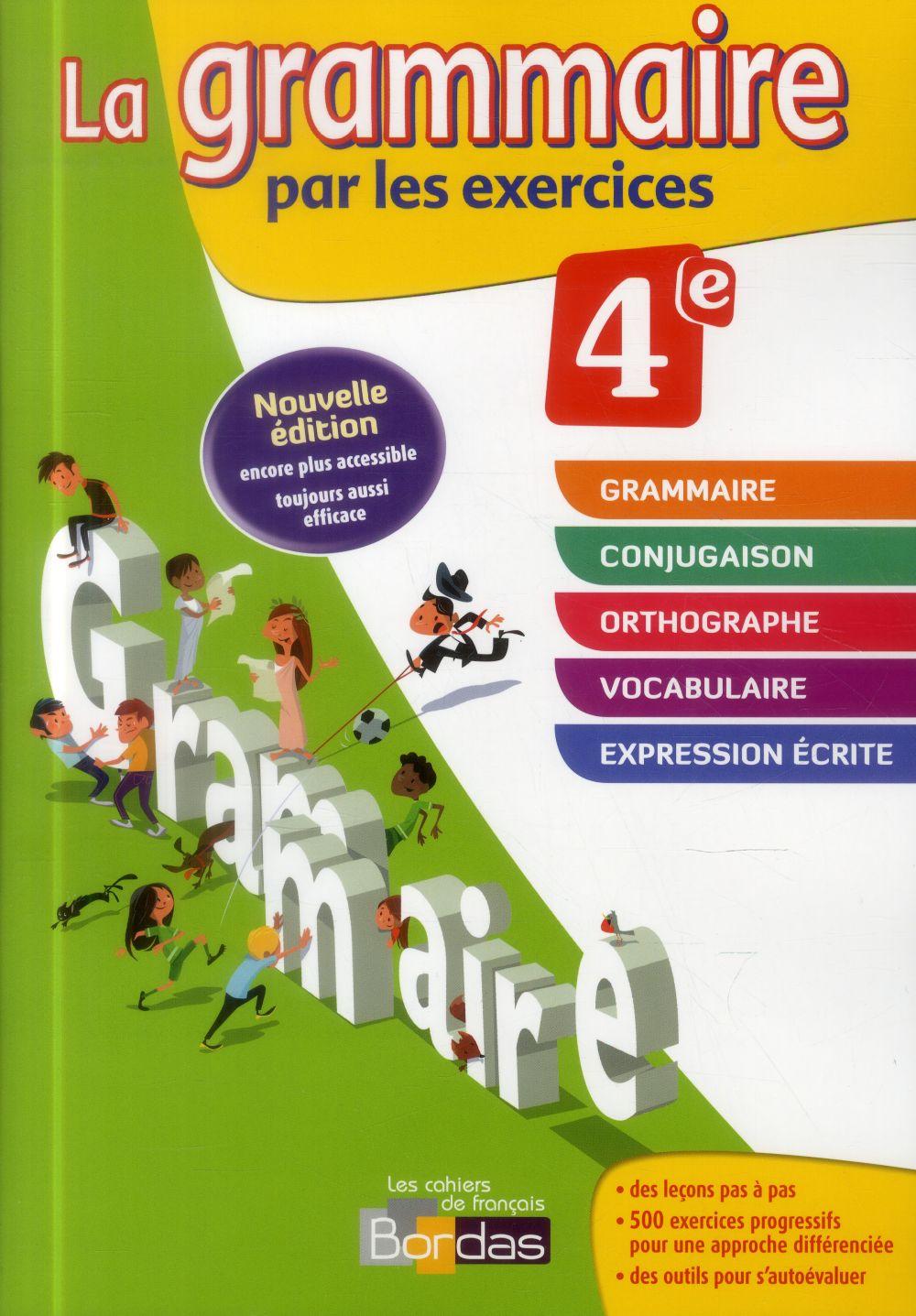 GRAMMAIRE EXERCICES 4E 2014