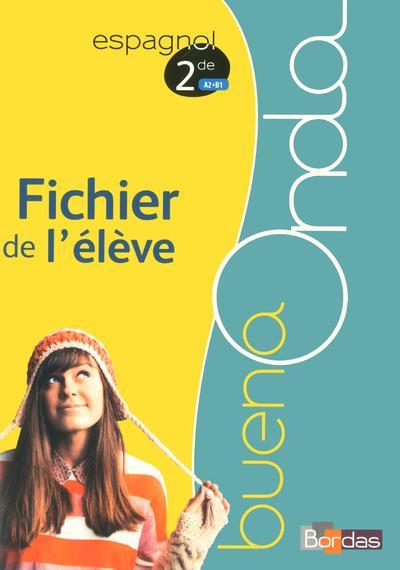 BUENA ONDA 2DE FICHIER DE L'ELEVE 2015