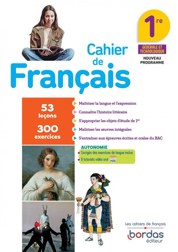 FRANCAIS 1RE 2020 CAHIER D'EXERCICES