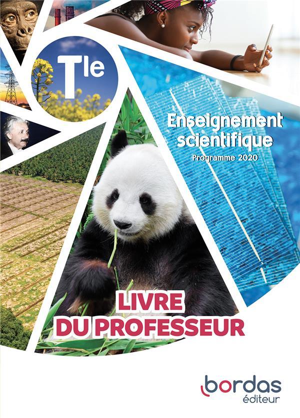 ENSEIGNEMENT SCIENTIFIQUE TERM 2020 - LIVRE DU PROFESSEUR