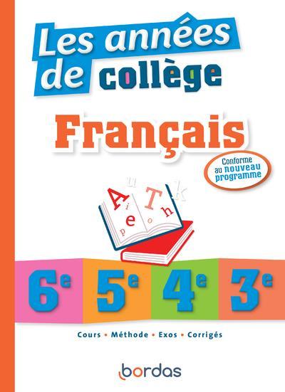 LES ANNEES DE COLLEGE - FRANCAIS