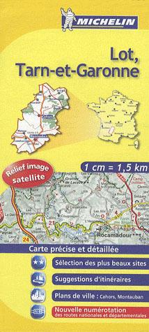 CARTE DEPARMENTALE 337 LOT/TARN-ET-GARONNE