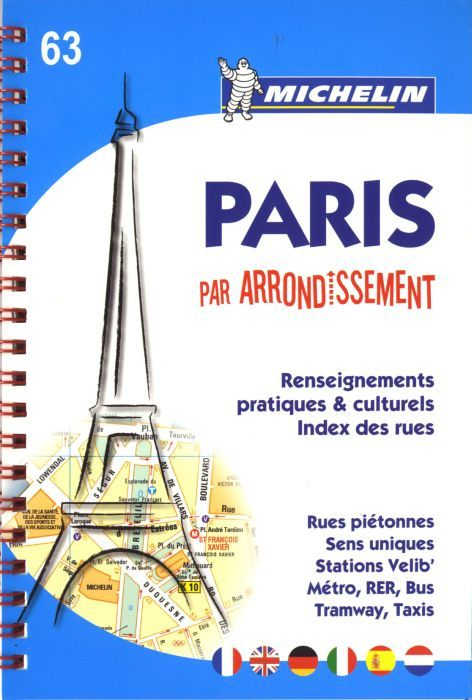 PARIS PAR ARRONDISSEMENT - PLAN ATLAS (SPIRALE)
