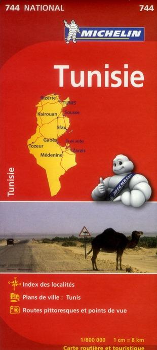 CARTE NATIONALE 744 TUNISIE