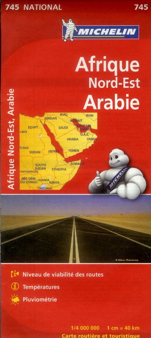 CARTE NATIONALE 745 AFRIQ NORD-EST,ARABIE