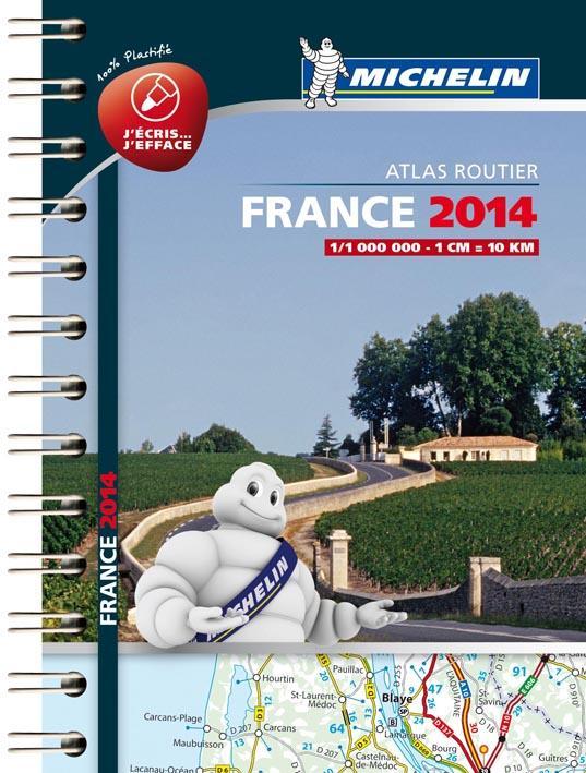 MINI ATLAS FRANCE PLASTIFIE 2014