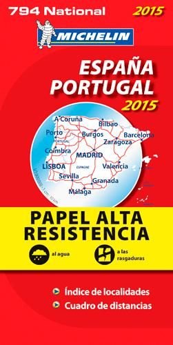 ESPANA, PORTUGAL 2015 - PAPEL ALTA RESISTENCIA / ESPAGNE, PORTUGAL 2015 - INDECHIRABLE