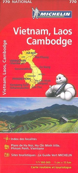 CARTE NATIONALE  770 VIETNAM LAOS CAMBODGE
