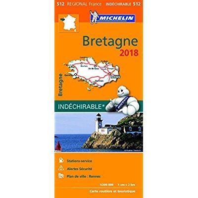 CARTE REGIONALE 512 BRETAGNE 2018