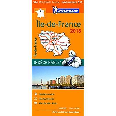 CARTE REGIONALE 514 ILE DE FRANCE 2018
