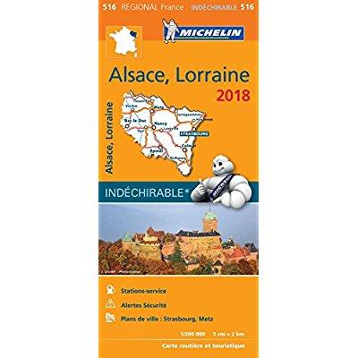 CARTE REGIONALE 516 ALSACE LORRAINE 2018