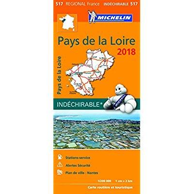 CARTE REGIONALE 517 PAYS DE LA LOIRE 2018