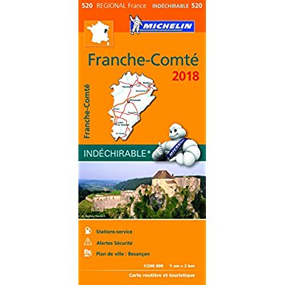 CARTE REGIONALE 520 FRANCHE COMTE 2018