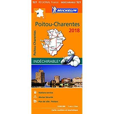 CARTE REGIONALE 521 POITOU CHARENTES 2018