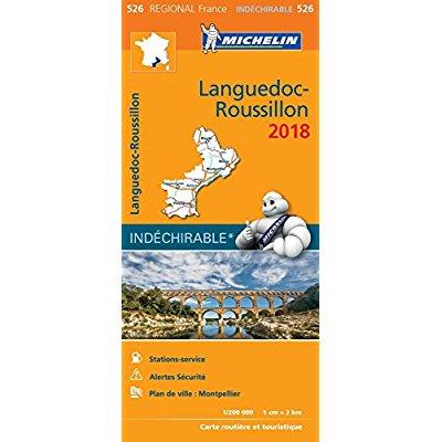 CARTE REGIONALE 526 LANGUEDOC ROUSSILLON 2018