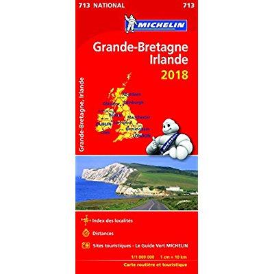 CARTE NATIONLA 713 GRANDE BRETAGNE, IRLANDE 2018