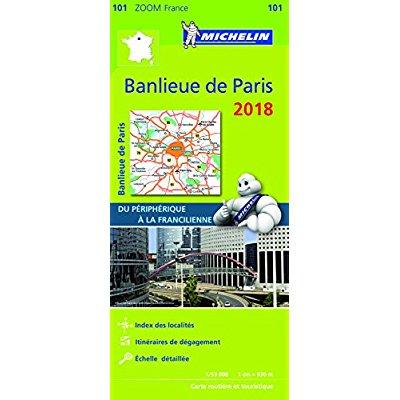 CARTE ZOOM 101 BANLIEUE DE PARIS 2018