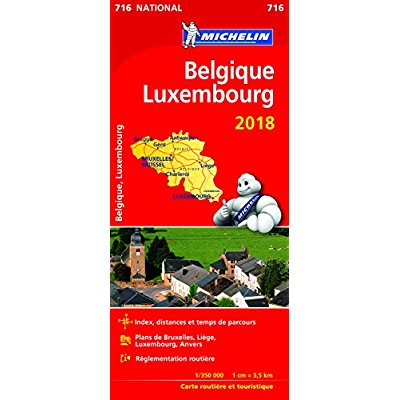 CARTE NATIONALE 716 BELGIQUE, LUXEMBOURG 2018