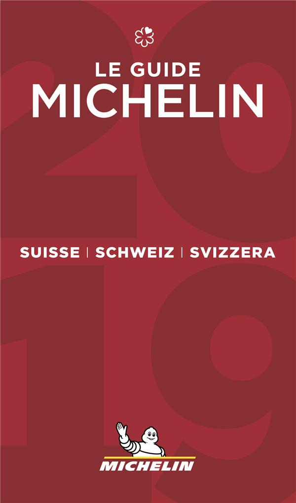 SUISSE SCHWEIZ SVIZZERA - LE GUIDE MICHELIN 2019