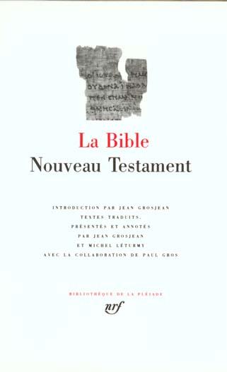 LA BIBLE - NOUVEAU TESTAMENT